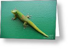 Gecko Crossing Greeting Card