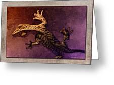 Gecko Dance 2 Greeting Card