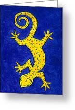 Gecko Wiggle Greeting Card