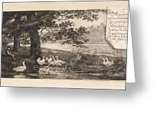 Geese At Water, Elias Stark Greeting Card