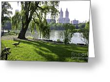 Geese In Central Park Nyc Greeting Card