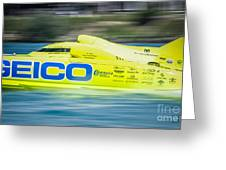 Geico Off Shore Racing Greeting Card