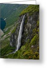 Geirangerfjord Waterfall Greeting Card