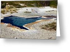 Geiser In Yellowstone Greeting Card