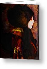 Geisha 4 From Geisha Series Greeting Card