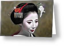 Geisha No.145 Greeting Card by Yoshiyuki Uchida