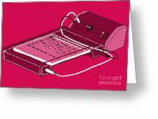 Gel Electrophoresis, Illustration Greeting Card
