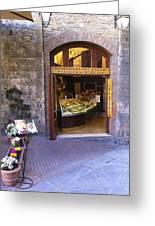 Gelateria Siena Greeting Card