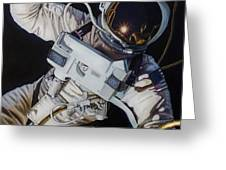 Gemini Iv- Ed White Greeting Card