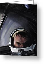 Gemini X- Michael Collins Greeting Card by Simon Kregar