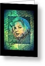 Gena Rowlands Greeting Card
