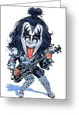 Gene Simmons Greeting Card by Art