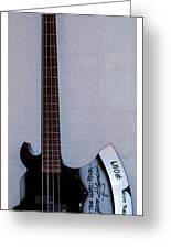 Gene Simmons Hatchet Bass Guitar Greeting Card