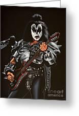Gene Simmons Of Kiss Greeting Card