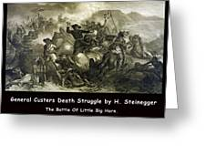 General Custers Death Struggle Greeting Card