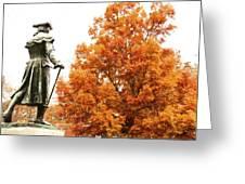 General In Fall Splendor Greeting Card