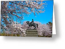 General In The Cherry Blossoms Greeting Card