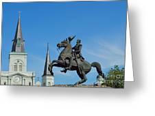General Jackson Statue Greeting Card