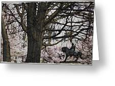 General Meade In The Cherry Blossoms Greeting Card