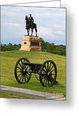 General Meade Monument And Cannon Greeting Card by James Brunker