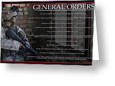 General Orders Greeting Card