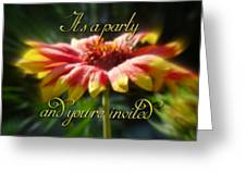 General Party Invitation - Blanket Flower Wildflower Greeting Card by Mother Nature