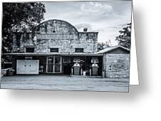 General Store In Independence Texas Bw Greeting Card