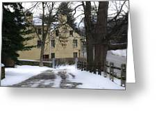 General Wayne Inn In Winter Greeting Card