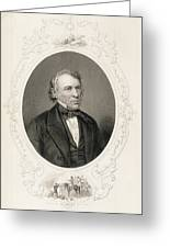 General Zachary Taylor, From The History Of The United States, Vol. II, By Charles Mackay, Engraved Greeting Card