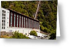 Generator House Of Hydro-electric Power Plant Greeting Card