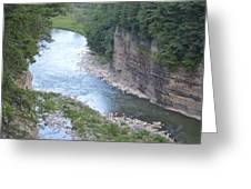 Genesee River In Grand Canyon Of East Greeting Card