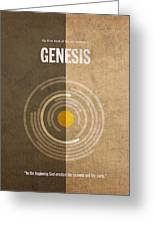 Genesis Books Of The Bible Series Old Testament Minimal Poster Art Number 1 Greeting Card