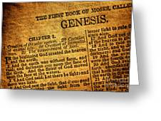 Genesis Greeting Card