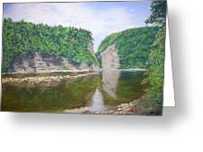 Genessee River At Letchworth Greeting Card
