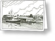 Genius Ready To Fish Gig Harbor Greeting Card by Jack Pumphrey