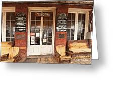 Genoa Saloon Oldest Saloon In Nevada Greeting Card