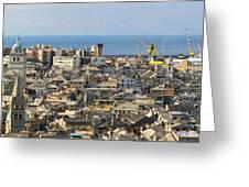 Genova. Panoramic View Greeting Card