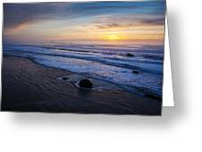Gentle Evening Waves Greeting Card