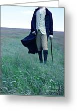 Gentleman Walking In The Country Greeting Card