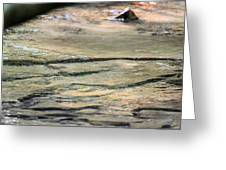 Gently Gliding Water Abstract Greeting Card