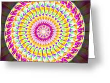Geo Master Eleven Kaleidoscope Greeting Card by Derek Gedney