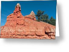 Geological Forces At Red Canyon Greeting Card