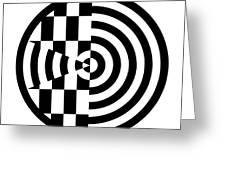 Geomentric Circle 3 Greeting Card