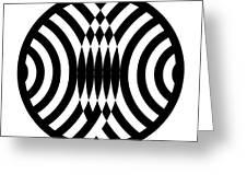 Geomentric Circle 4 Greeting Card