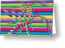 Geometric 3 Greeting Card by Mark Ashkenazi