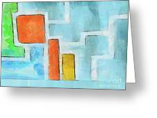 Geometric Abstract Greeting Card by Pixel Chimp