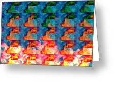 Geometric Cloud Cover Greeting Card