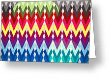 Geometric Colors  Greeting Card