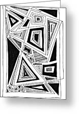 Geometric Doodle 2 Greeting Card by Sarah Loft