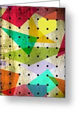 Geometric In Colors  Greeting Card by Mark Ashkenazi